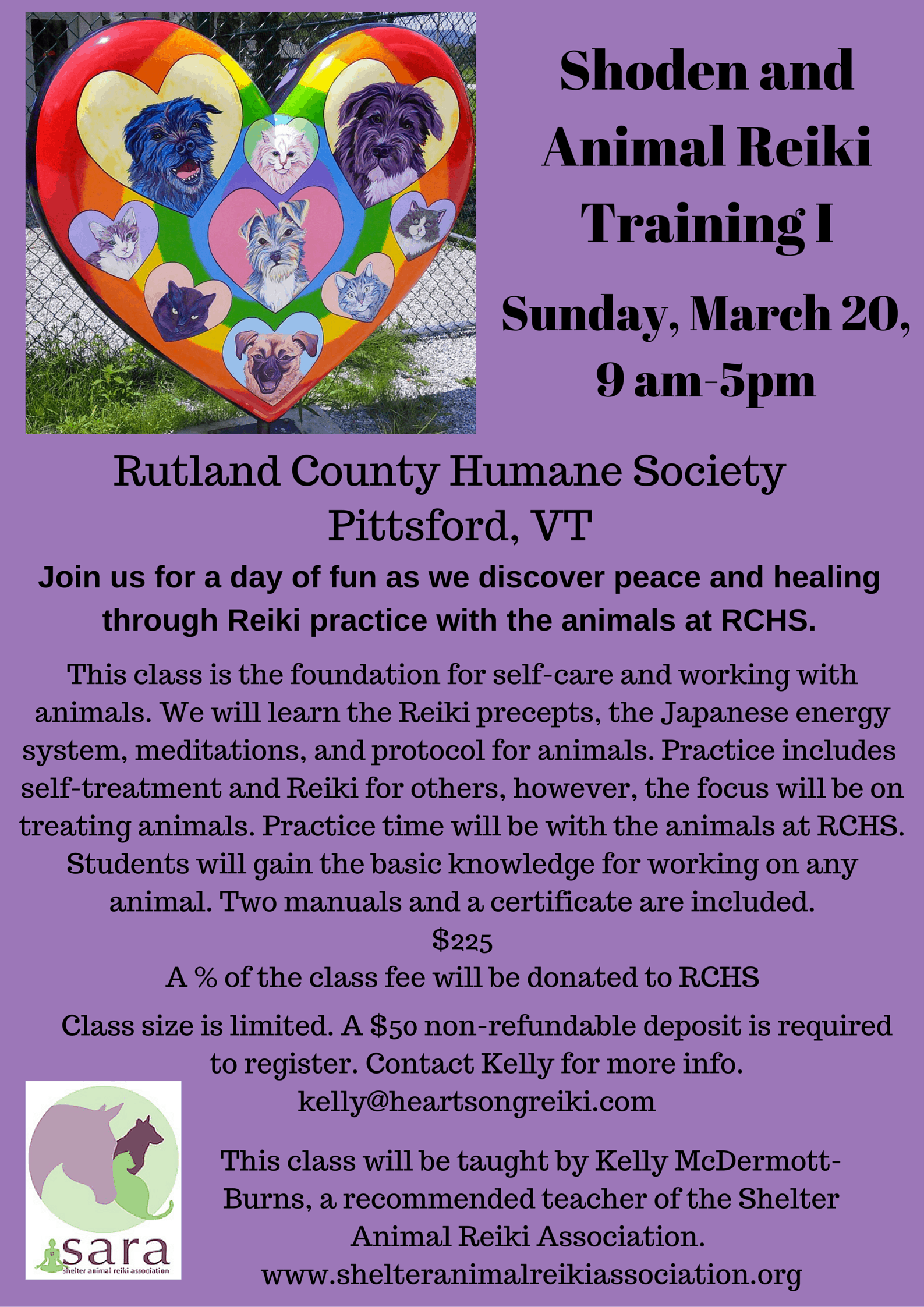 News events page 17 rutland county humane society shoden and animal reiki training i xflitez Image collections